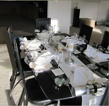 ModernGlass Dining Tableand 6 FauxLeather Chairs Set UK