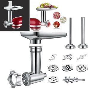 Kitchen Meat Grinder Sausage Stuffer Attachment For KitchenAid Stand Mixer Steel
