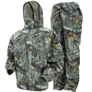 Camo Frogg Toggs All Sport Rain Suit Realtree Edge Gear Jacket & Pants M MD