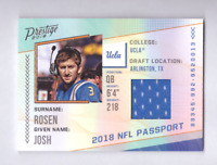 2018 Prestige JOSH ROSEN NFL Passport Game Jersey UCLA Cardinals Rookie