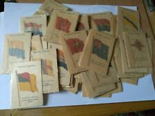 More details for kensitas cigarettes cards silk flags mix lot of spares 70 plus cards