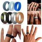 Size 7-13 Unisex Silicone Wedding Ring Rubber Band Comfortable Elegant Ring 7Pcs