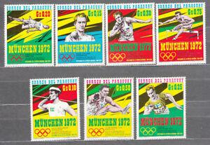 Paraguay - Mail 1970 Yvert 1057/63 MNH Munich Olympics 72