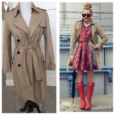 Gap Women's Khaki Classic Trench Coat// Belted// Buttons// SZ Small