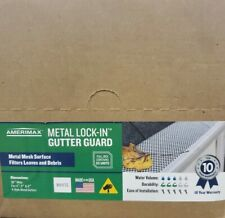 Metal Lock-In Gutter Guard 50 Piece per Carton Mesh Pattern (White) Brand New!