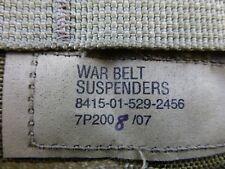 EAGLE INDUSTRIES KHAKI WAR BELT SUSPENDERS NSN 8465015292456-BUY 1 GET 1 FREE!!!