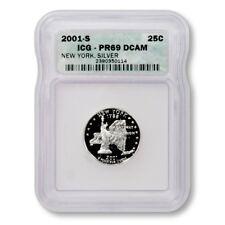 USA New York State Quarter 2001 S Silver Proof ICG PR 69 DCAM