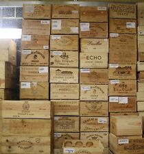 4 X LARGE RECLAIMED WOODEN WINE BOX/CRATE/STORAGE/SHELF/DRAWER/HAMPER/BOXES