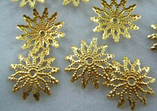 Wholesale 150pcs Gold Plated Flower Bead Caps Jewerly Making 12mm