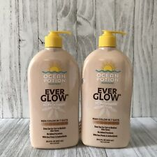 Ocean Potion Ever Glow Self-Tanning Lotion Natural Look 20.5 fl oz NEW Fair/Med