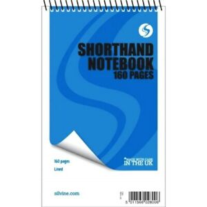 """3 x 160 Page Reporters Pad Notepad Note Pad  Notebook Shorthand Books 8"""" x 5"""""""