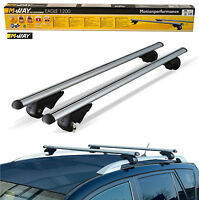 MWay Aerodynamic Lockable Aluminium Car Roof Rack Rail Bars for Seat Exeo St 09>