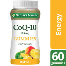 Nature's Bounty CoQ-10 125mg Gummies with Vitamin C - Tropical - 60 Pack