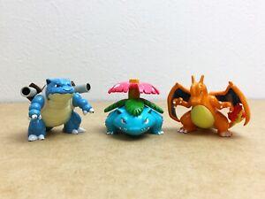 Pokemon TOMY Monster Collection Venusaur Charizard Blastoise