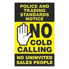 No Cold Calling Sticker  75mm x 120mm