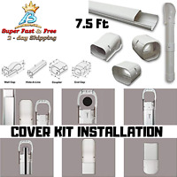 Tubing Cover Kit Line Set For Mini Split Central Air Conditioner Heat Pump 7.5Ft