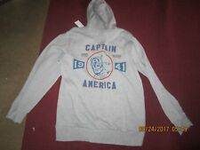 Men's Marvel Captain America Super Soldier 1941 Hoodie New Tags Size EX Large