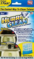 HurriClean Automatic Toilet and Tank Cleaner 3 Power Packets 76g AS SEEN ON TV