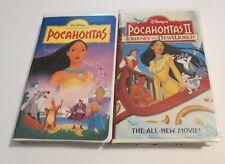 POCAHONTAS LOT~DISNEY MASTERPIECE~Pocahontas & Pocahontas II~VHS ~ FREE SHIP