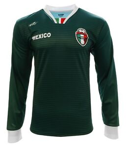 Mexico Fan Soccer Jersey Exclusive Design Long Sleeve