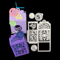 Gift Box Metal Cutting Die Scrapbook Greeting Card Embossing Stencil DIY Craft