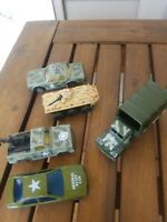 LOT/5 VINTAGE ARMY VEHICLES