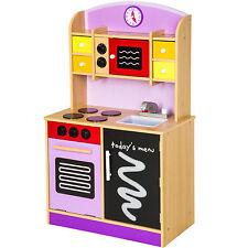 Cocina de madera de juguete para niños juguete juego de rol toy púrpura NUEVO