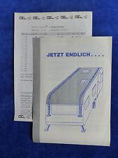 Speziplast Wohnwagen Schutzdach - Prospekt + Preisliste Brochure 10.1977