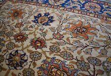 100% Pure Silk Antique Handmade Original Hereke 3Ft x 5Ft - Rare Gold Threads