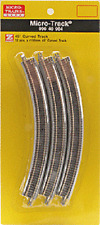 12 pack of Z  R-195mm 45 degree curve track Micro-track 99040904 Micro-trains