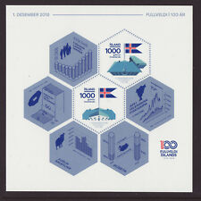 Iceland 2018 MNH - Centenary of Icelandic Independence and Sovereignty - m/sheet