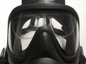 Genuine British Army Issue GSR General Service Respirator Correct Lens Insert N