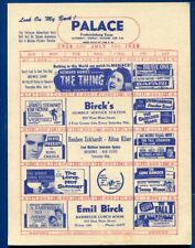 Fredericksburg Texas tx Palace Theater 87 Drive in Move Flyer July 1958
