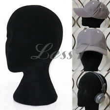 New Black Foam Mannequin Head Female Dummy Wig Hat Cap Shop Display Stand