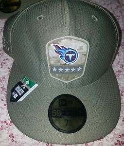 New Era 59FIFTY 2019 7 1/4 NFL TENNESSEE TITANS Armed Forces Fitted Hat Cap Camo