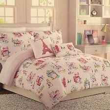 Cynthia Rowley Twin/Twin XL Paris EiffelTower Watercolor Comforter Set FREE SHIP