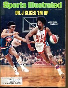Julius Erving Dr. J 1976 Sports Illustrated 5/17 Ex/MT Nets 54357