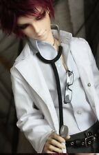 White Doctor Overall Coat for 1/4 1/3 SD17 Uncle BJD SD MSD Doll Clothes CMB5