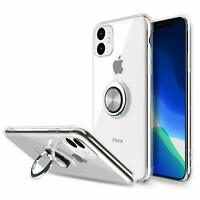 For iPhone 11 Max Pro X XR XS Case Cover Magnetic Ring Holder+Screen Protector