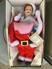 Vintage Norman Rockwell Scotty Plays Santa Christmas Porcelain Doll
