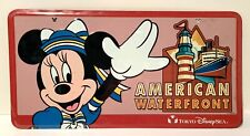 New ListingDisney License Plate Minnie Mouse Tokyo Disney Sea American Waterfront New