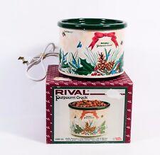 Rival Potpourri Crock Electric New No Box 3209 Special Holiday Christmas Design