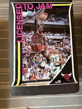 "Michael Jordan Chicago Bulls Licensed to Jam poster 1990 Vintage NBA 24"" X 36"""