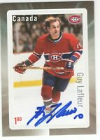 GUY LAFLEUR SIGNED AUTOGRAPH 2016 CANADA POST STAMP CARD MONTREAL CANADIENS