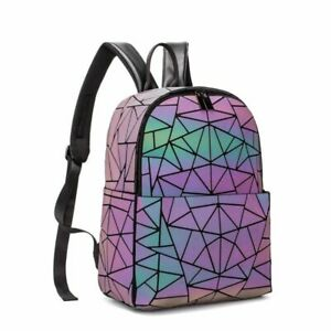 Women Backpack School Bag For Teenagers Girls Large Capacity Travel holographic