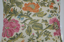 SFERRA DAVIS 1815 Floral Decorative Pillow Italy Almond Paprika Geranium NEW