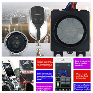 Keyless Remote Control Motorcycle Engine Start Anti-theft Security Alarm System