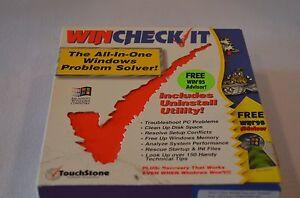 It Touch Stone Computer Software Wincheck Win 95 Advisor