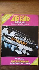 A Rare Program for the Biggin Hill Air Fair in 1976. Good Condition