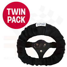 TRS Steering Wheel Cover BLACK TWIN PACK - Race / Rally / Off Road / 4x4